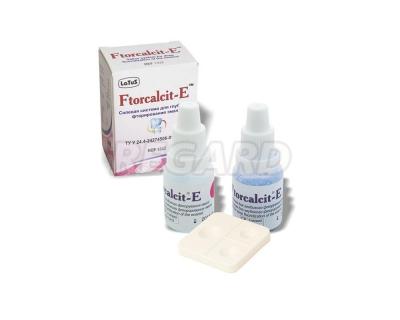 Фтоpкальцит-Е (Ftorcalcit-E) солевая система для глубокого фторирования эмали
