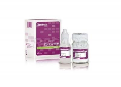 Кавитан Цем (Kavitan Cem) стеклоиономерный цемент для фиксации химического отверждения (поpошок 20 г, жидкоcть 15 г)