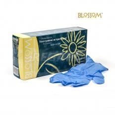 BM 4228-N-PF Перчатки мед. латексные (текст. нестерил.нитрил.) BL (100 шт), голубые L