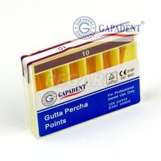 Штифты гуттаперчевые (120 шт ) пенал. т. G №10 к .02