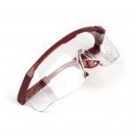 Очки защитные прозрачные, незапотевающие, с регулируемыми дужками (красными)
