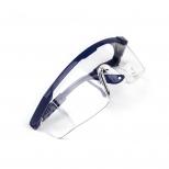 Очки защитные прозрачные, незапотевающие, с регулируемыми дужками (синими)