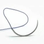 Материалы шовные хирургические стерильные Олимп, полиамид с колющей иглой